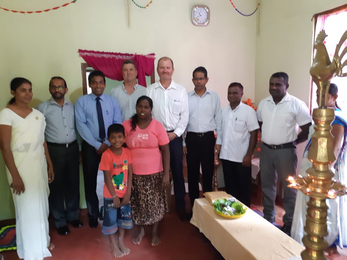 The Ceylon Chamber assist construction of three new houses for flood affected families in Bulathsinhala DS Division