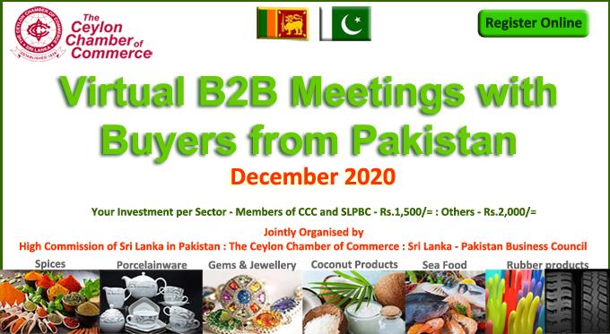 Virtual B2B Meetings with Buyers from Pakistan - December 2020