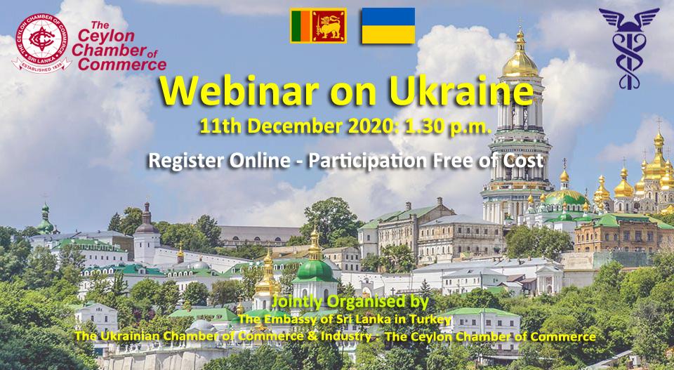 Webinar on Ukraine - 11th December 2020 at 1.30 p.m.