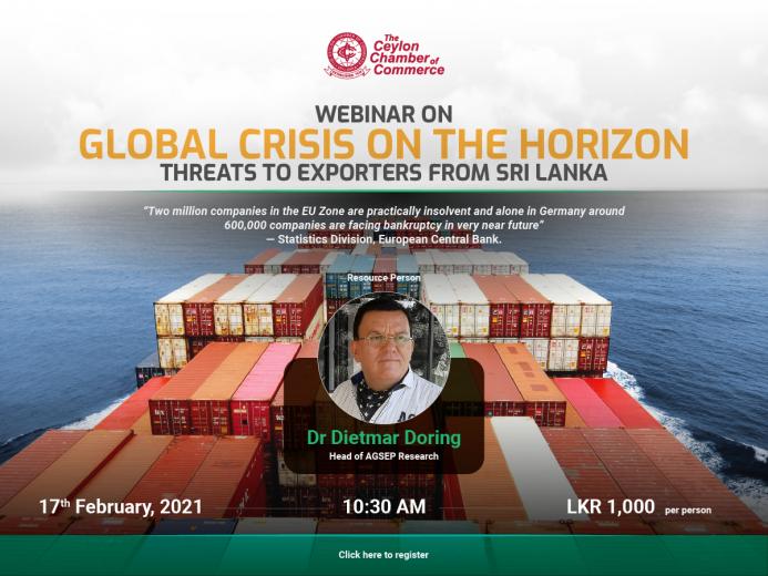Webinar on Global Crisis on the Horizon - Threat to Exporters from Sri Lanka